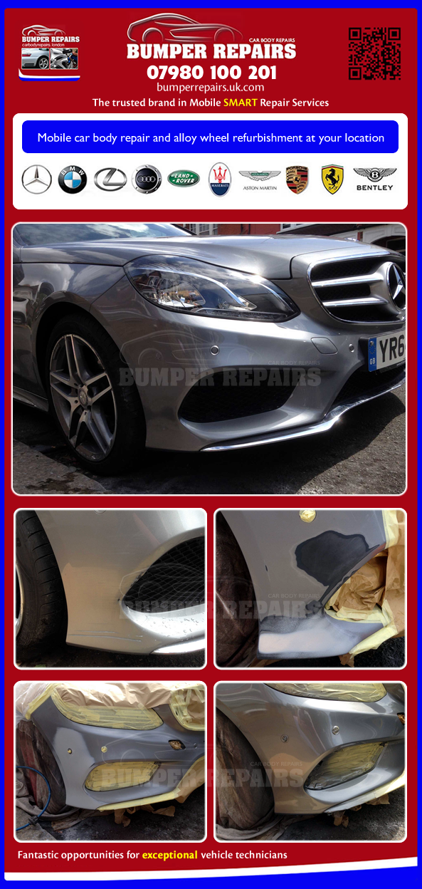 Mercedes Benz E63 AMG bumper repair